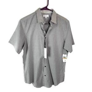 Calvin Klein S button down short sleeve